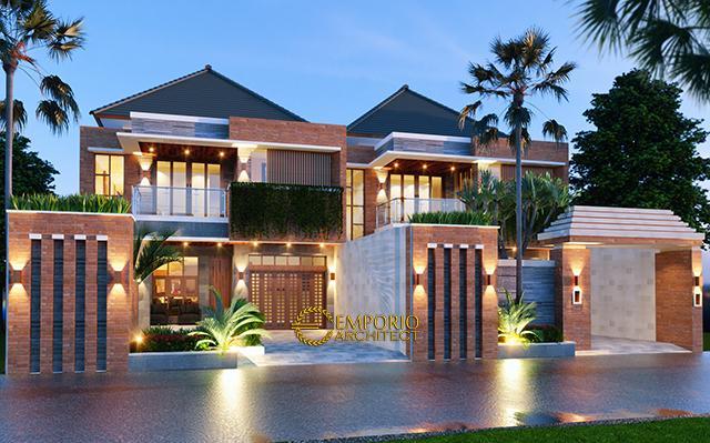 Desain Rumah Villa Bali 2 Lantai Bapak Arka di  Denpasar, Bali