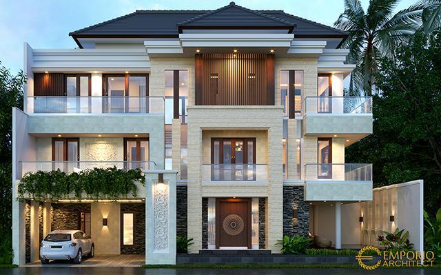 Desain Rumah Villa Bali 3 Lantai Bapak Erwan di  Denpasar, Bali