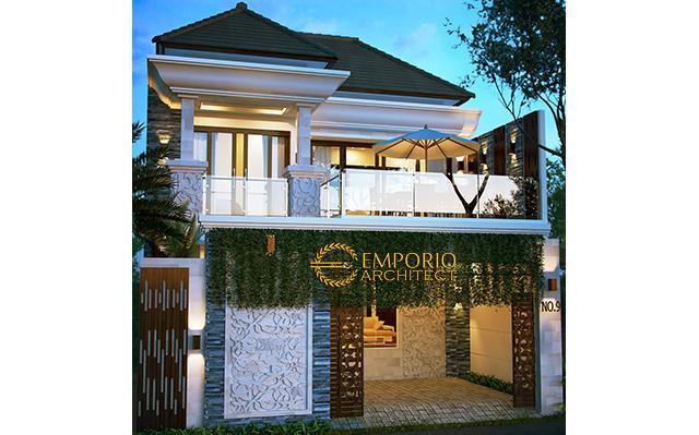 Desain Rumah Villa Bali 2 Lantai Bapak Muntas di  Denpasar, Bali