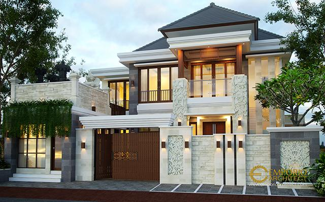 Desain Rumah Villa Bali 2 Lantai Ibu Citra di  Denpasar, Bali