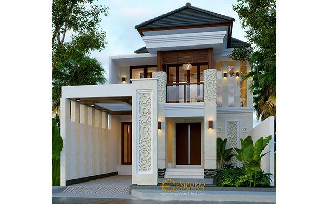 Desain Rumah Villa Bali 2 Lantai Ibu dr. Dita di  Denpasar, Bali