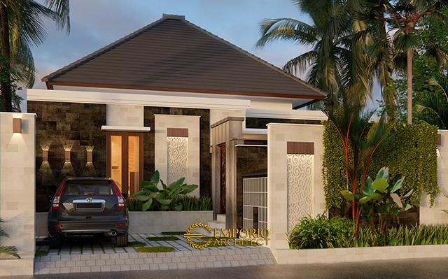 Desain Rumah Villa Bali 1 Lantai Ibu Linawati di  Denpasar, Bali