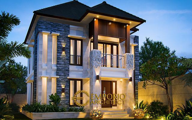 Desain Rumah Villa Bali 2 Lantai Bapak Restu di  Denpasar