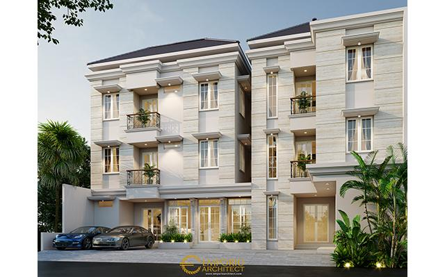 Mrs. Lusi Classic Boarding House 3 Floors Design - Depok