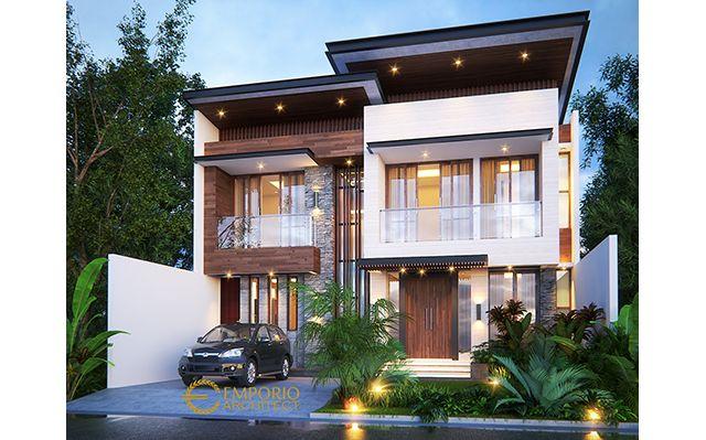 Desain Rumah Modern 2 Lantai Bapak Iskandar di  Depok, Jawa Barat