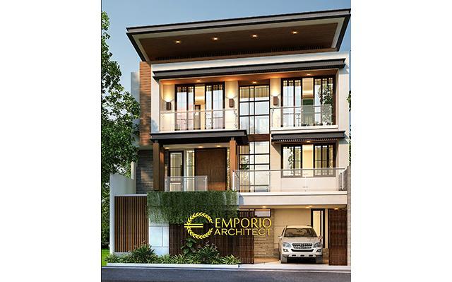Desain Rumah Modern 3 Lantai Ibu Sunny di  Depok, Jawa Barat