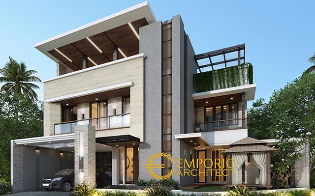 Desain Rumah Modern 3 Lantai Bapak Anggi di  Depok, Jawa Barat