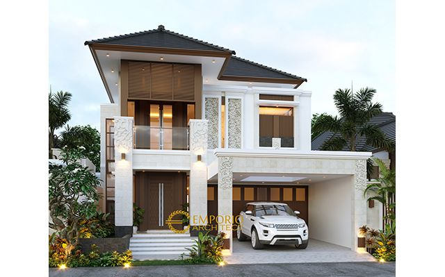 Desain Rumah Villa Bali 2 Lantai Bapak Farid di  Depok, Jawa Barat