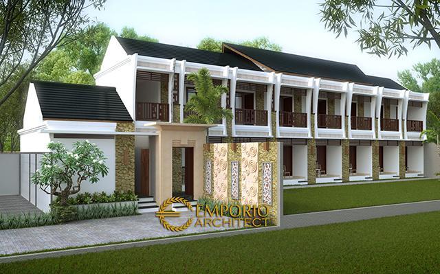 Desain Emerald Residence Style Villa Bali 2 Lantai di  Gorontalo