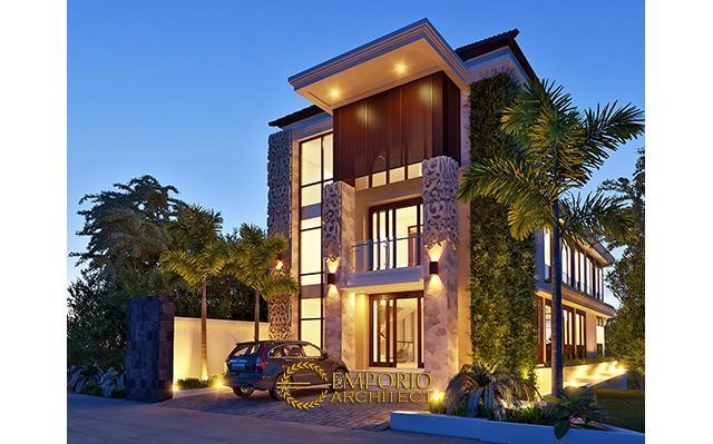 Desain Guest House Villa Bali 3 Lantai Bapak Abdul Rochim di  Dago, Bandung