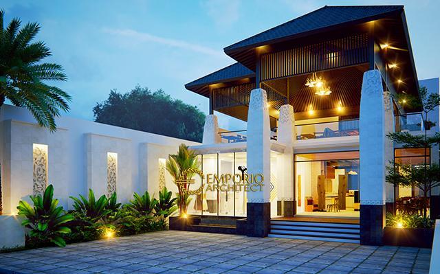 Desain Hostel Style Villa Bali 2 Lantai Bapak Yohanes di  Berawa, Canggu, Bali