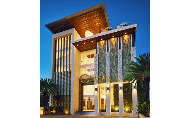 Desain Hotel Modern 4 Lantai Ar Rayyan di  Kerobokan, Bali