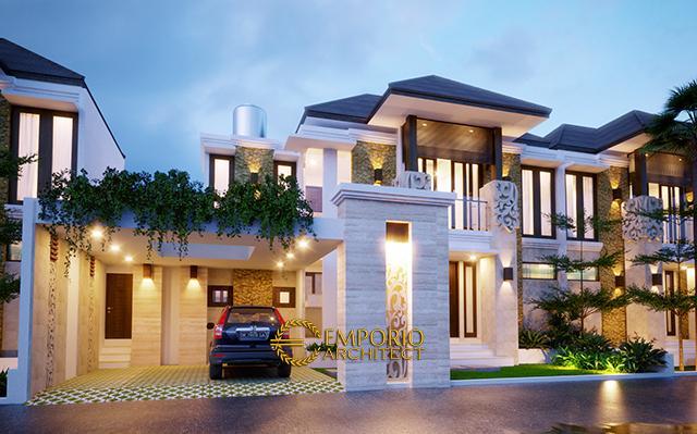 Desain Kamuning Golden Residence Style Villa Bali 2 Lantai di  Kuningan, Jawa Barat