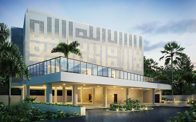 Desain Masjid Lippo Village Modern 3 Lantai di  Karawaci, Tangerang
