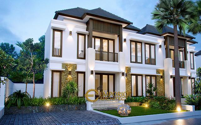 Desain Perumahan Villa Bali 2 Lantai Bapak Zul di  Bengkulu