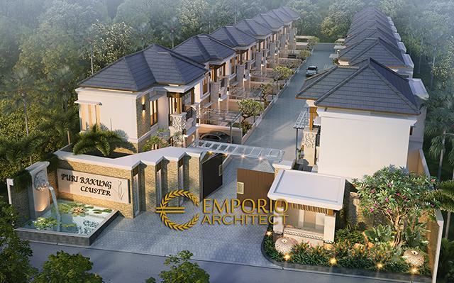 Desain Puri Bakung Cluster Style Villa Bali 2 Lantai di  Ungasan, Kuta Selatan