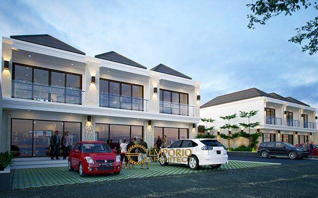 Desain Ruko Kamuning Residence Style Villa Bali 2 Lantai  di  Kuningan, Jawa Barat