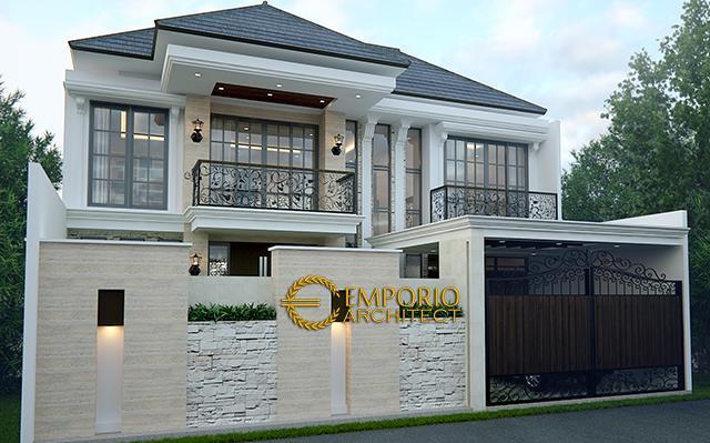 Desain Rumah Classic 2 Lantai Bapak Adi di  Jagakarsa, Jakarta Selatan