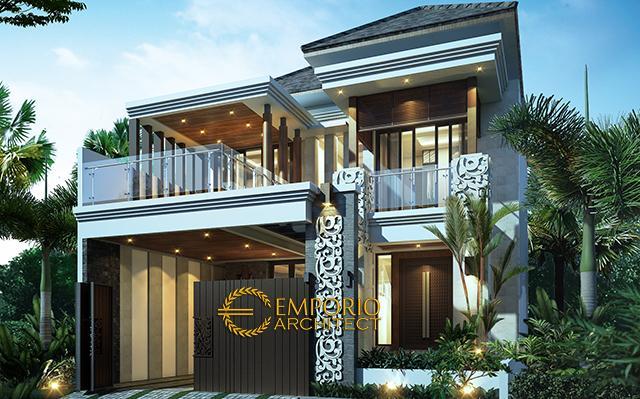 Desain Rumah Villa Bali 2 Lantai Bapak Aji di  Jakarta