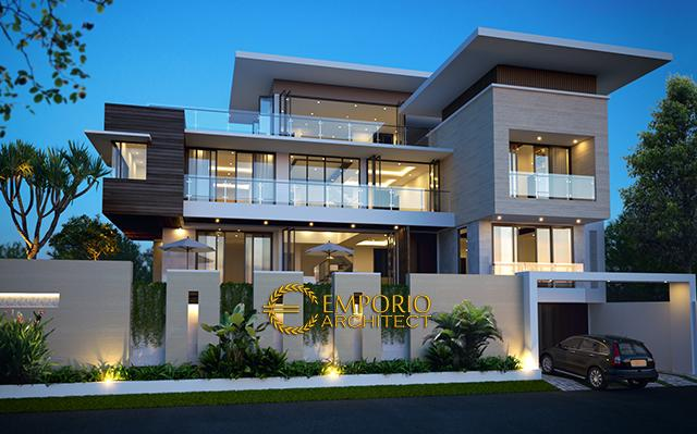 Mr. Alex Modern House 3 Floors Design - Jakarta