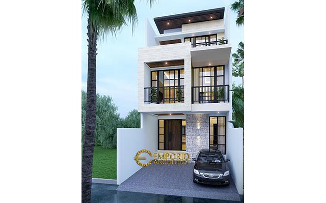 Desain Rumah Modern 3 Lantai Bapak Alvin di  Sunter, Jakarta