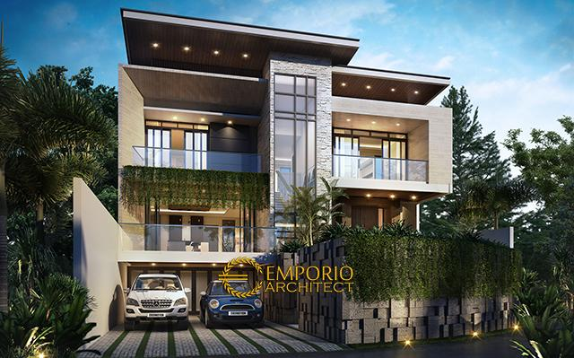 Mr. Andry Modern House 3 Floors Design - Bandung