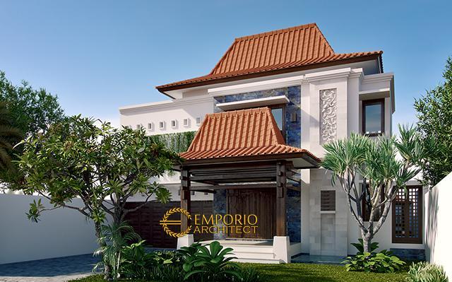 Desain Rumah Villa Bali 2 Lantai Bapak Aris Prio Ambodo di  Bogor