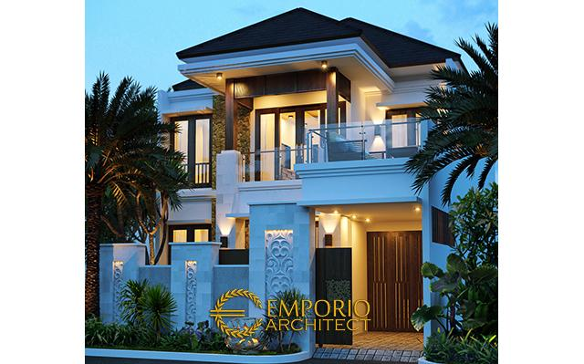 Desain Rumah Villa Bali 2 Lantai Bapak Arvey di  Jakarta