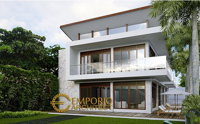 Desain Rumah Modern 2 Lantai Bapak Boy Manuel di  Puncak Bogor