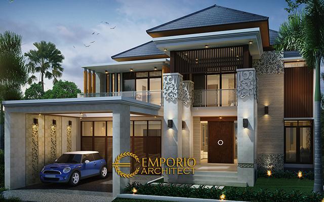 Mr. Budi Villa Bali House 2 Floors Design - Malang, Jawa Timur