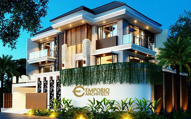Desain Rumah Hook Villa Bali 3 Lantai Bapak Budiman di  Jakarta Barat