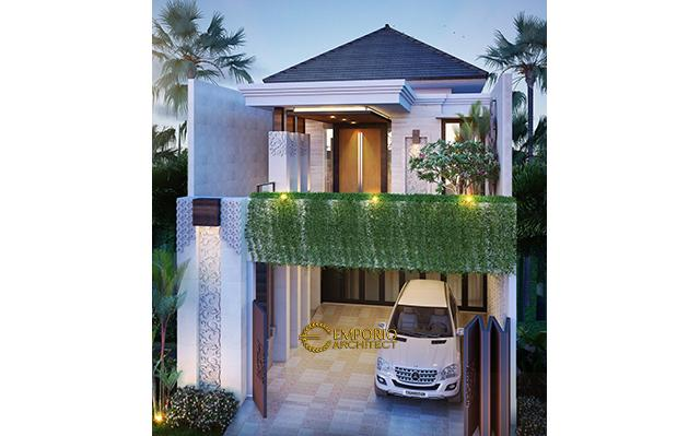 Desain Rumah Villa Bali 2 Lantai Bapak Chaerul di  Jakarta