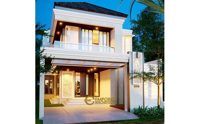 Desain Rumah Villa Bali 2 Lantai Bapak David di  Bekasi