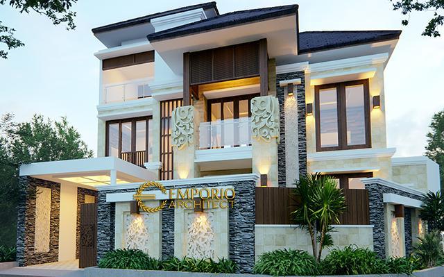 Desain Rumah Villa Bali 3 Lantai Bapak Djarot di  Jakarta