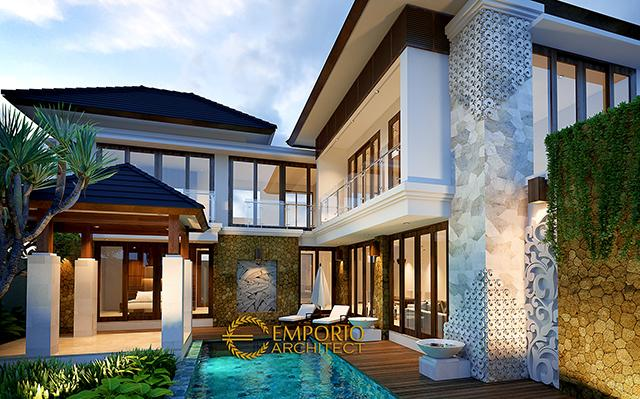 Desain Rumah Villa Bali 2 Lantai Bapak Dr. Nurul Yakin di  Cirebon
