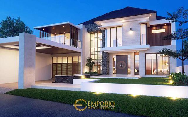 Desain Rumah Modern 2 Lantai Bapak Edo di  Lampung