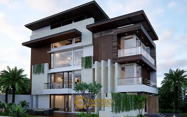 Desain Rumah Modern 3 Lantai Bapak Edy di  Jakarta Barat