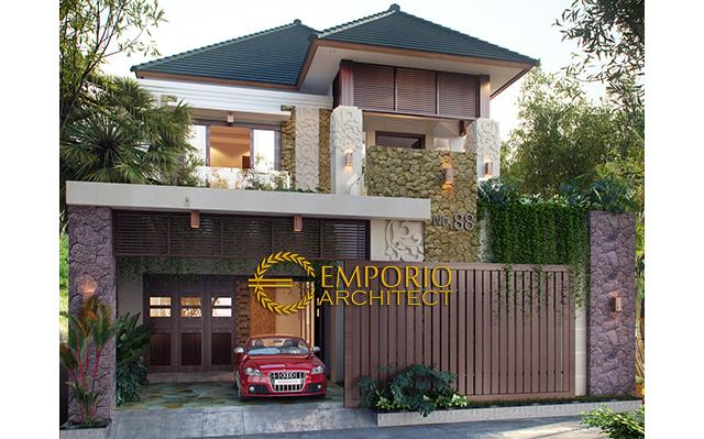 Desain Rumah Villa Bali 2 Lantai Bapak Ega di  Tasikmalaya, Jawa Barat
