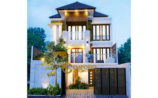 Desain Rumah Villa Bali 3 Lantai Bapak Ellias di  Jakarta