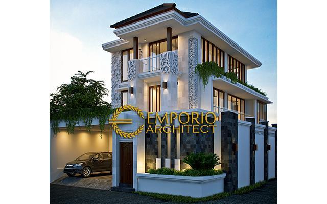 Desain Rumah Villa Bali 3 Lantai Bapak Fahmi di  Jakarta