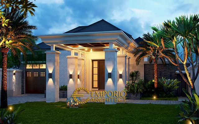 Desain Rumah Villa Bali 1 Lantai Bapak Faisal di  Pontianak Kalimantan
