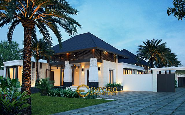 Desain Rumah Villa Bali 1 Lantai Bapak Farizal di  Aceh