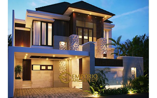 Desain Rumah Villa Bali 2 Lantai Bapak Fitri Hendarto di  Bontang, Kaltim