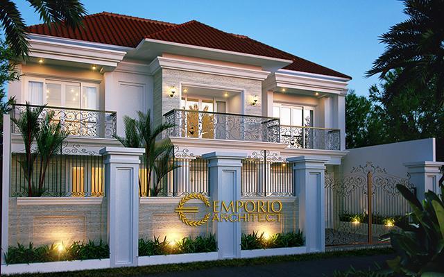 Desain Rumah Classic 2 Lantai Bapak Haifan di  CIbubur, Jakarta