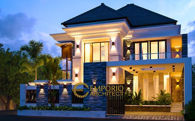 Desain Rumah Villa Bali 2 Lantai Bapak Hanif di  Banten