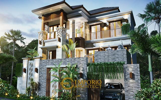Desain Rumah Villa Bali 3 Lantai Bapak Harta di  Denpasar, Bali