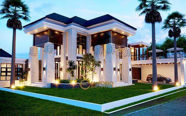 Desain Rumah Villa Bali 2 Lantai Bapak Herry di  Bogor, Jawa Barat