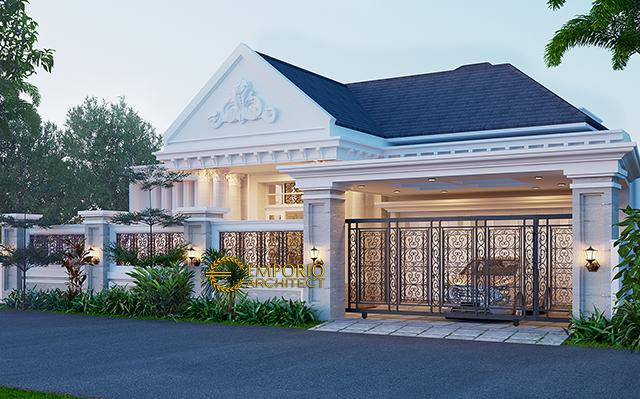 Mr. Hidayat Classic House 1 Floor Design - Lampung