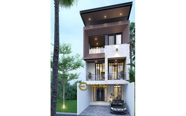 Desain Rumah Modern 3 Lantai Bapak Husein di  Pondok Kelapa, Jakarta Timur