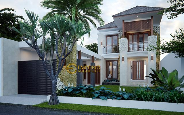 Desain Rumah Villa Bali 2 Lantai Bapak Ian di  Jakarta